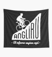 "Angliru climb ""El infierno empieza aquí"" cycling Vuelta España Wall Tapestry"