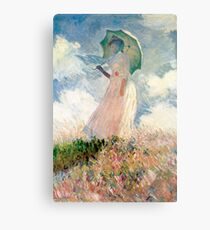 Claude Monet - Woman with a Parasol, Study Metal Print
