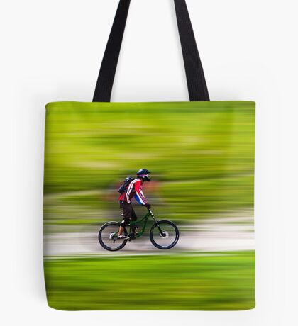 Mountain Biker Tote Bag