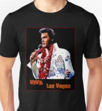 ELVIS : Vintage Viva Las Vegas Advertising Print T-Shirt
