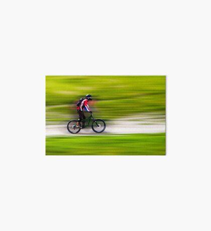 Mountain Biker Art Board