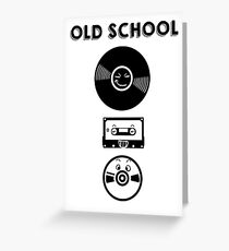 Old school music Greeting Card