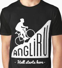 "Angliru climb ""Hell starts here"" cycling Vuelta España Graphic T-Shirt"
