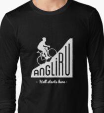 "Angliru climb ""Hell starts here"" cycling Vuelta España T-Shirt"