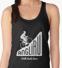 "Angliru climb ""Hell starts here"" cycling Vuelta España Women's Tank Top"