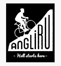 "Angliru climb ""Hell starts here"" cycling Vuelta España Photographic Print"