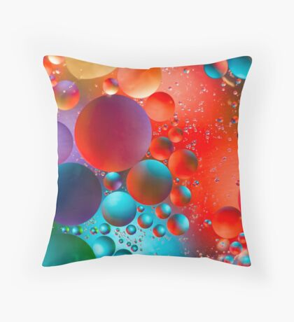Oil and Water Throw Pillow