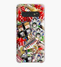 Gamblers Delight - Las Vegas Icons Background Case/Skin for Samsung Galaxy