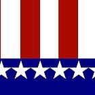 Patriotic Stars and Stripes by Gravityx9