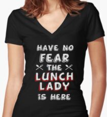 Lunch lady funny T-shirt Women's Fitted V-Neck T-Shirt