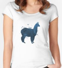 A cute llama Women's Fitted Scoop T-Shirt