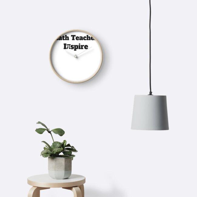 Math Teachers Inspire With Pi Symbol Teacher Gifts Clocks By