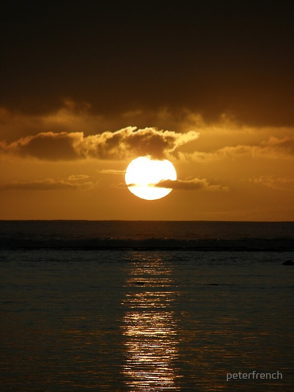 Rarotongan sunset by peterfrench