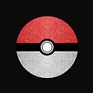 Sparkly red and silver sparkles poke ball on dark gray  by PLdesign
