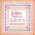 Follow Your Dreams-coral by Katie Kinnear