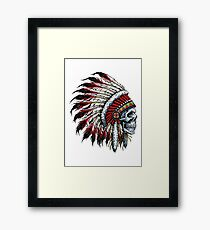 Indian Skull Framed Print