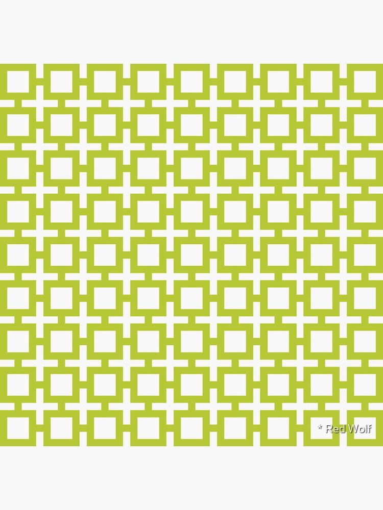 Geometric Pattern: Square + Cross: Green by redwolfoz