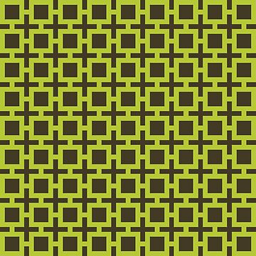 Geometric Pattern: Square + Cross: Green by redwolfoz
