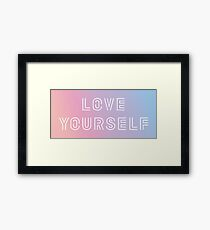 BTS LOVE YOURSELF PASTEL Framed Print