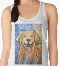 Original Modern Golden Retriever dog art painting / Max Women's Tank Top