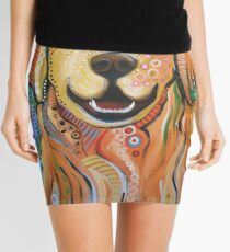 Original Modern Golden Retriever dog art painting / Max Mini Skirt