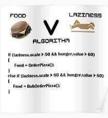 Programming Food V Laziness Algorithm Poster