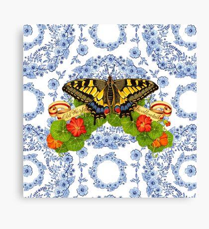 Old World Swallowtail Blue Rhapsody Canvas Print