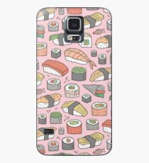 Sushi on Pink Case/Skin for Samsung Galaxy
