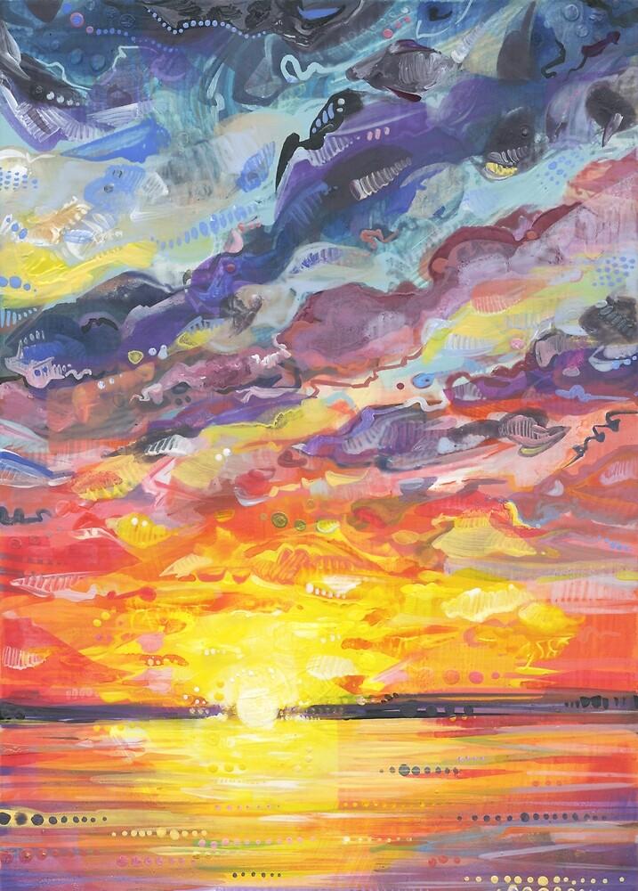 Sunset Painting (Understanding) - 2017 by Gwenn Seemel