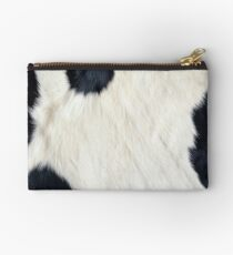 Cowhide Black and white Studio Pouch