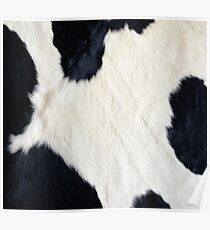 Cowhide Black and white Poster