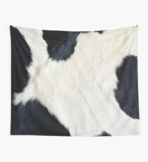 Cowhide Black and white Wall Tapestry