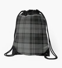 Grey Flannel  Drawstring Bag