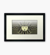 SUNFLOWER MAN Framed Print