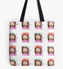 Sassy Hula Mädchen Emoji Muster Tote Bag