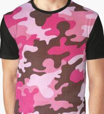 Pink Camo Graphic T-Shirt