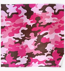 Pink Camo Poster