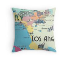 Los angeles carte impressions sur toile par artshop77 redbubble - Housse de couette los angeles ...