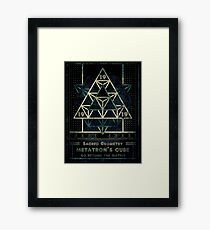 SACRED GEOMETRY METATRON MATRIX Framed Print
