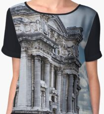 Architecture of Brussels, historic buildings and streets, Belgium Women's Chiffon Top