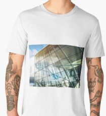Modern glass building in Brussels, architecture concept, Belgium Men's Premium T-Shirt