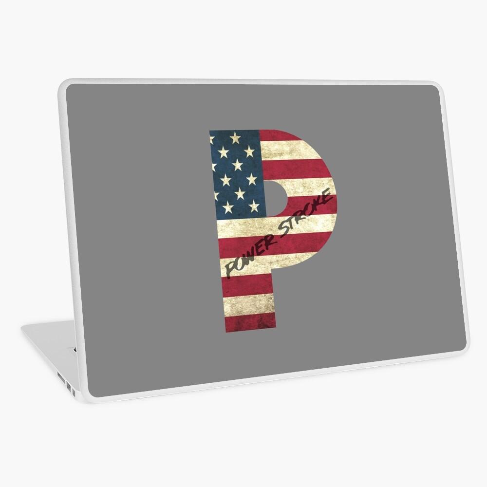 Bandera estadounidense de Powerstroke Vinilo para portátil