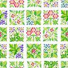 Tudor Flower Parterre by PatriciaSheaArt