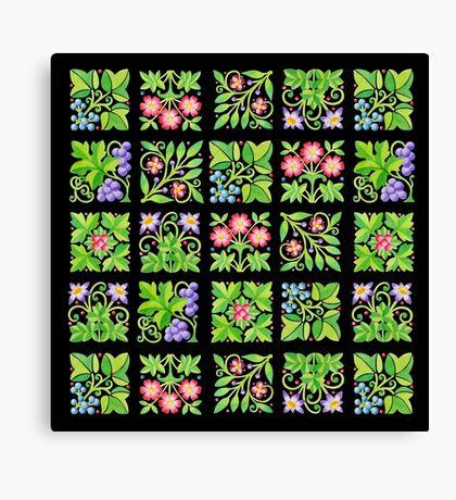 Tudor Flower Parterre Canvas Print