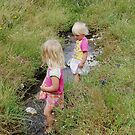 Playing in the Creek by Barbara Caffell