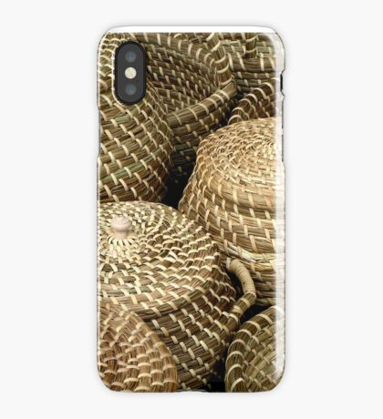 Baskets on market Kampen Netherlands iPhone Case/Skin