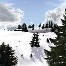 Winter landscape (IV) by CatchyLittleArt