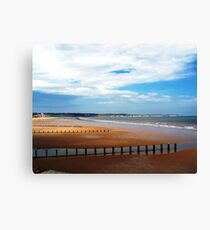 Bridlington Beach Canvas Print
