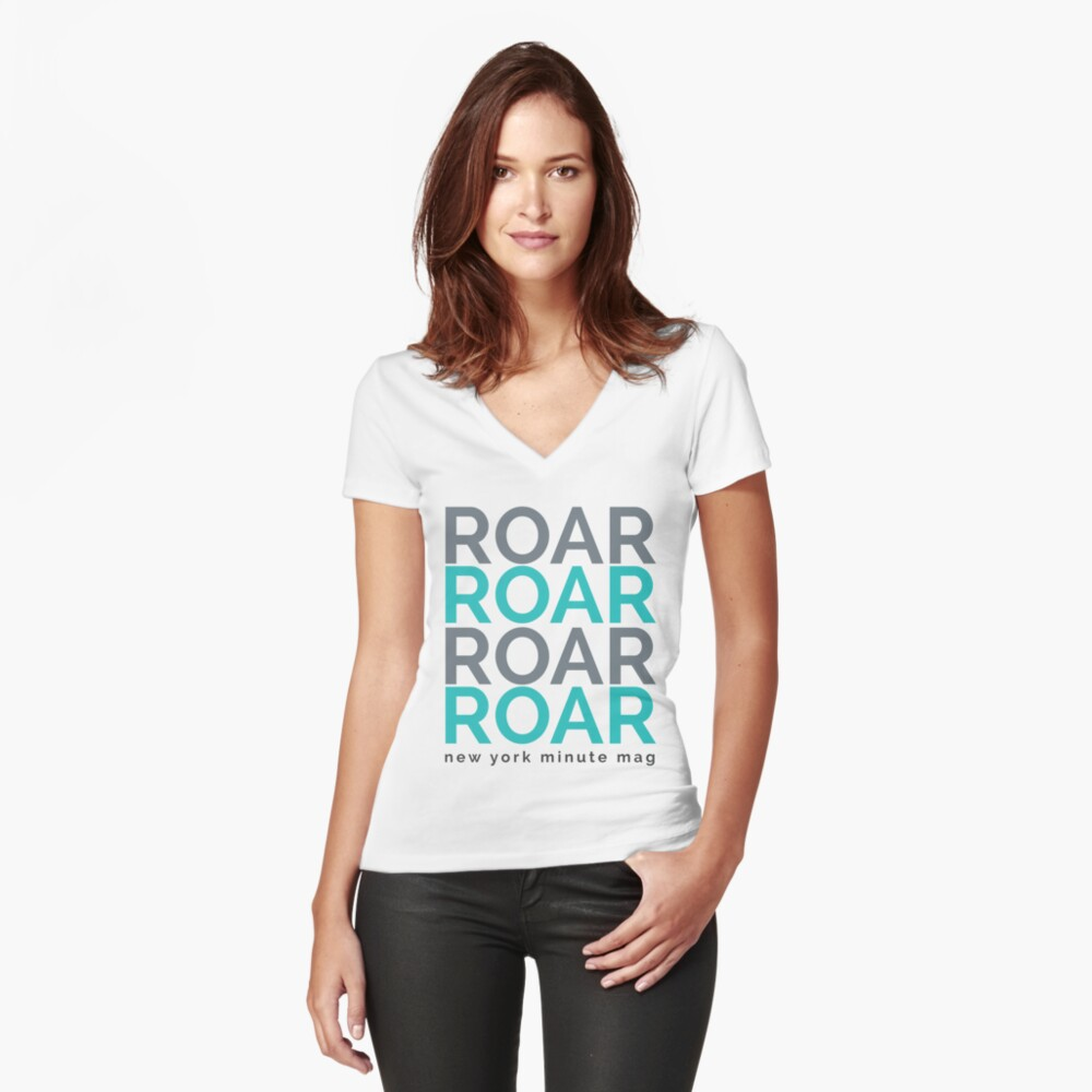 Roar Women's Fitted V-Neck T-Shirt Front