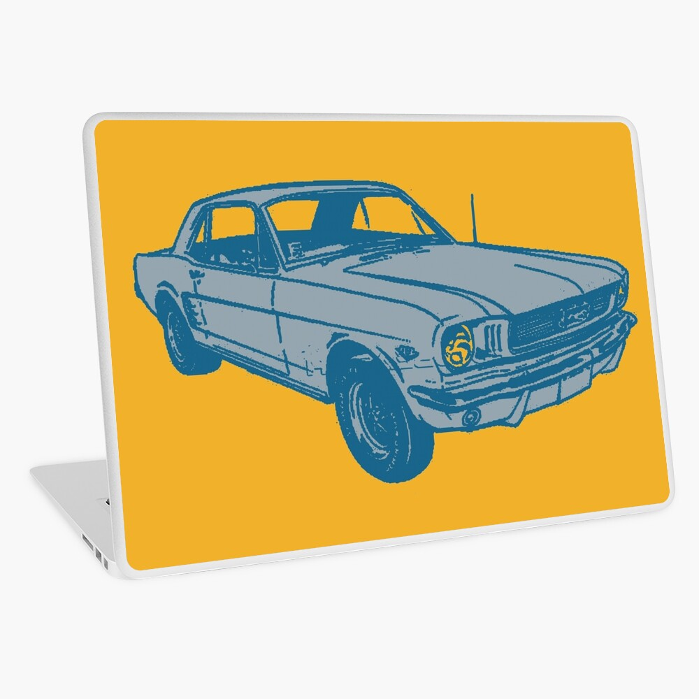Quot Muscle Car Quot Laptop Skin By Impactees Redbubble